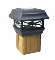 Moonrays 91253 Solar-powered Post Cap Led Light For 4 By 4 Posts, Black , New, F on sale
