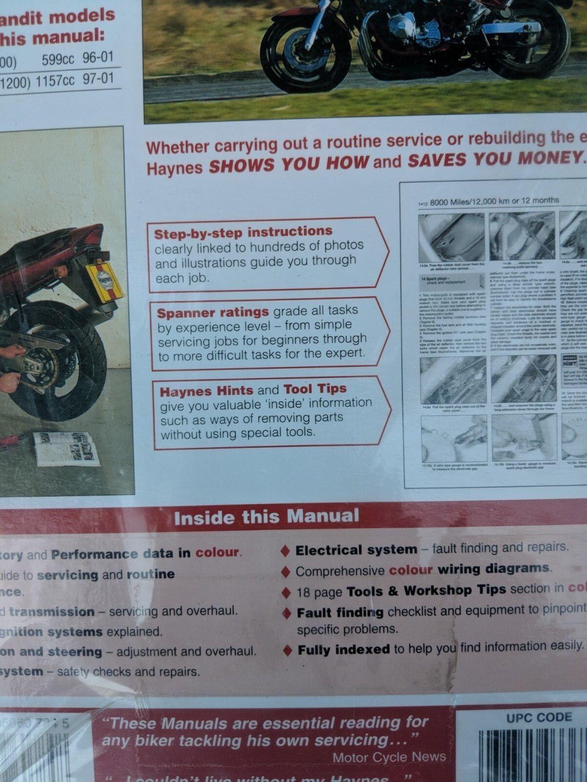 h3367 service & repair manuals haynes suzuki gsf600 gsf1200 bandit  1995-2006 repair manual