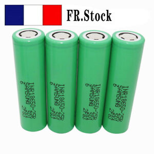4X 18650 2500mAh Batterie 3.7V Flat Top Li-ion Rechargeable 25R  High Drain NEW