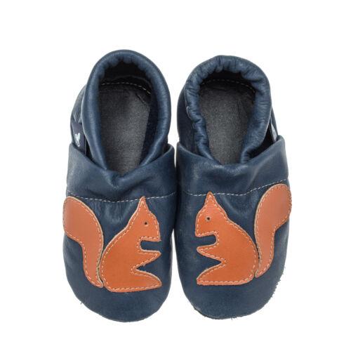 Babyschuhe Lauflernschuhe Baby Krabbelschuhe Eichhörnchen Pantau Lederpuschen