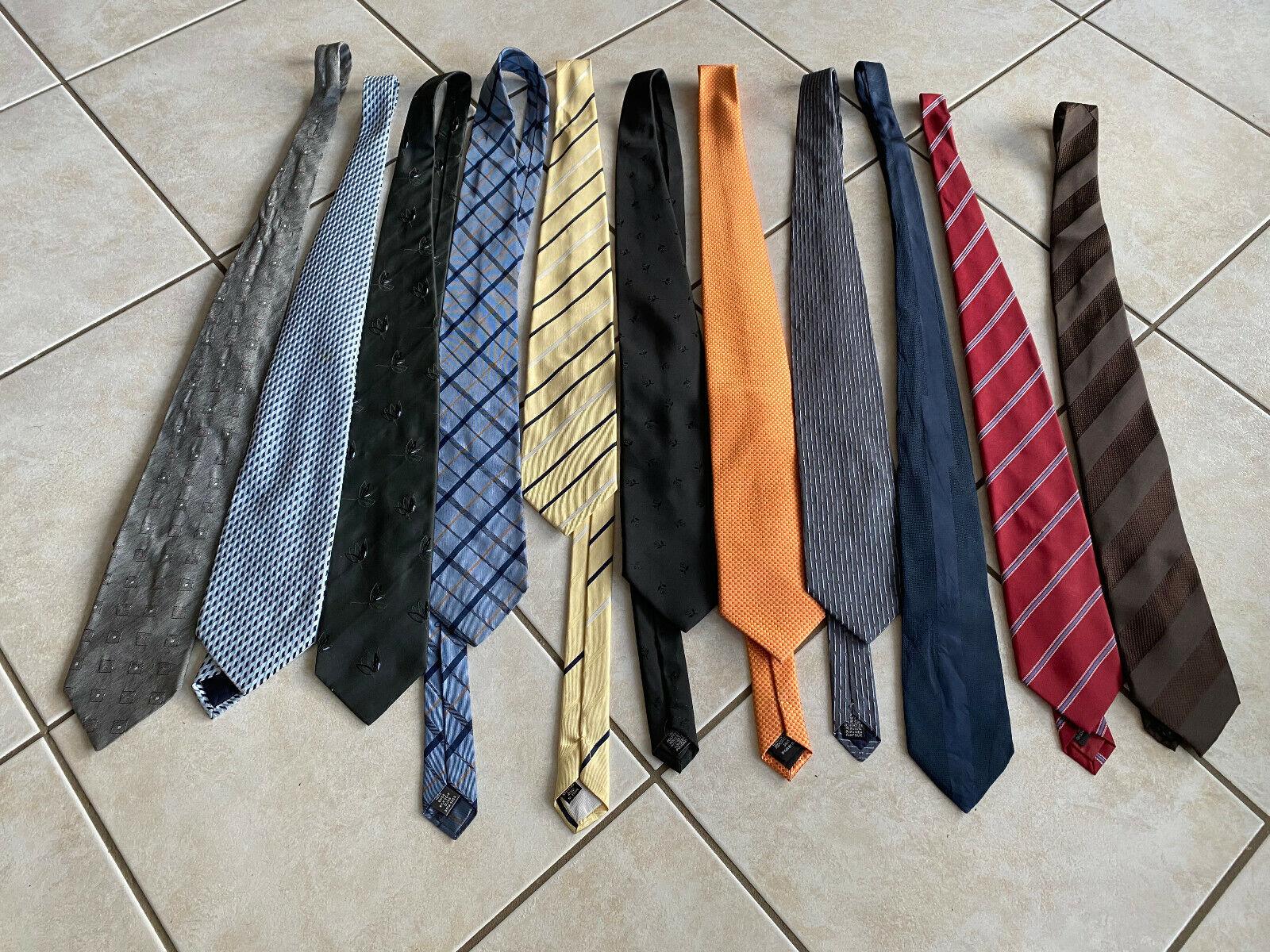 11 Krawatten verschiedene Farben
