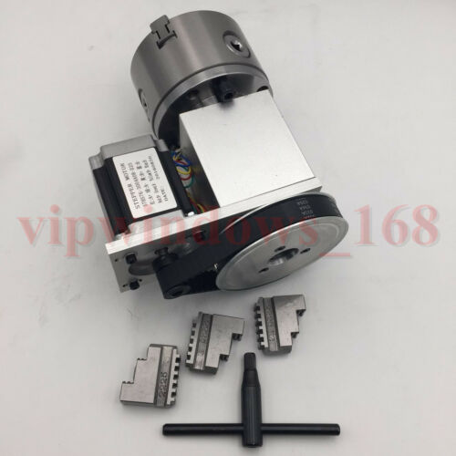 Tailstock/&Rotary Axis 3Jaw 100mm Chuck CNC Router 6:1 4th Rotational Axis Kit