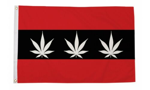 2 Eyelets Amsterdam Marijuana 5ft x 3ft Flag Amsterdam City Flag w//Weed Design
