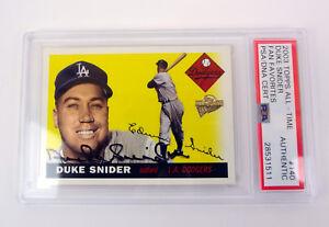 Duke-Snider-2003-Topps-Fan-Favorites-Signed-Autograph-Card-Slabbed-PSA-DNA-COA