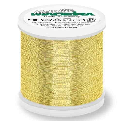 Madeira metálico brillante de costura y bordado de hilo 200m-Oro 6 Color