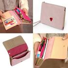 Money Hot Lady Fashion Card Case Zip Holder PU Leather Purse Women Wallet