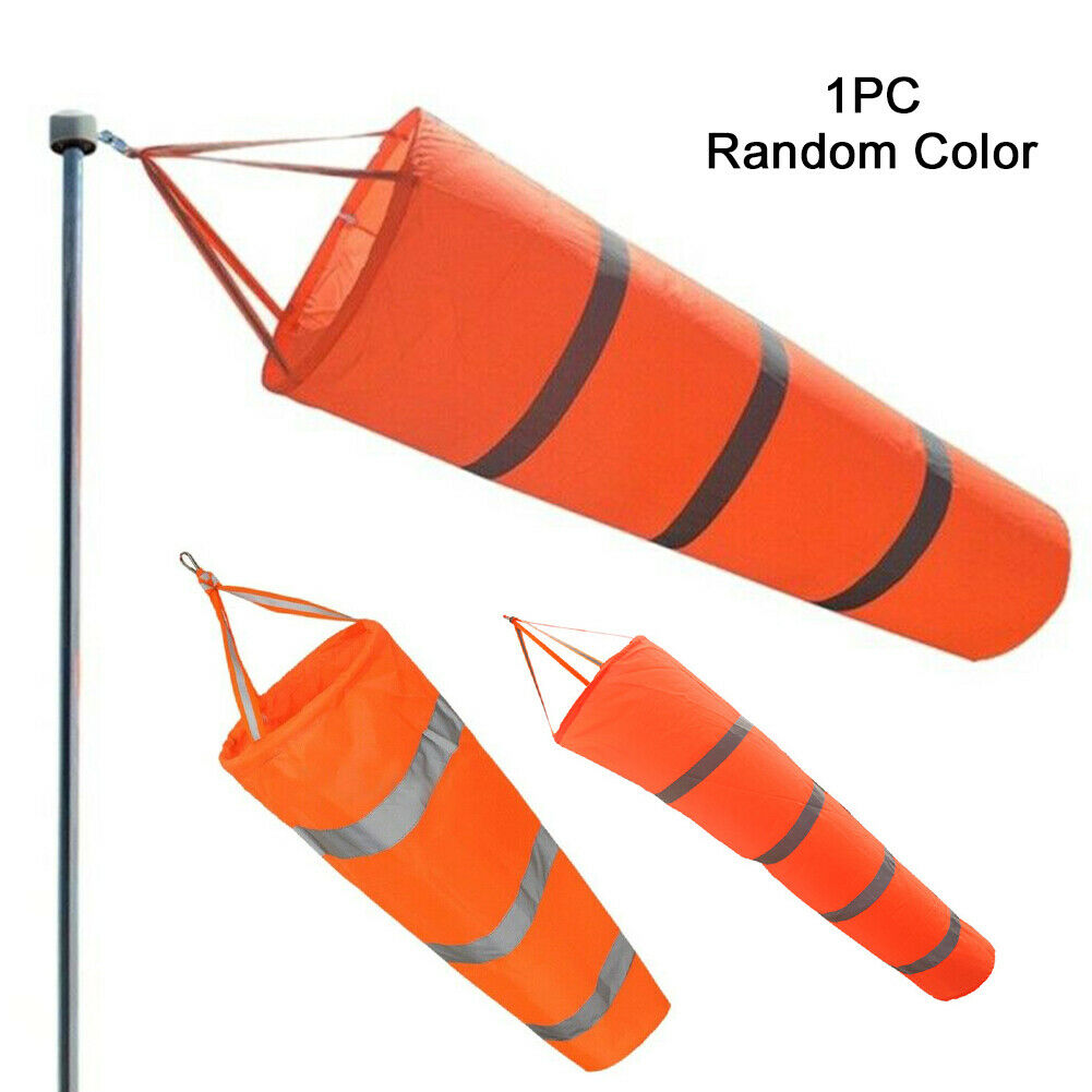 80/100/150cm Airport Windsock Aviation Wind Sock Bag Outdoor Camping Flag