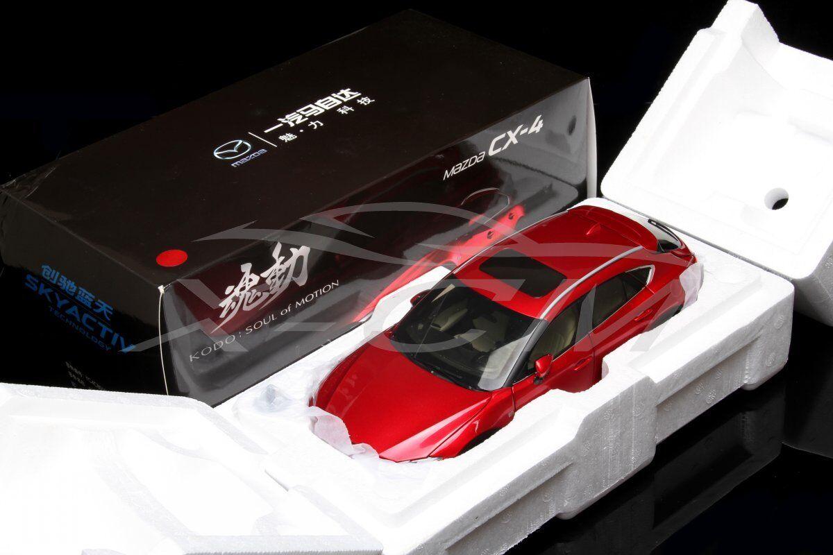 con il prezzo economico per ottenere la migliore marca modellolo Diecast Auto Mazda Mazda Mazda CX-4 1 18 (Rosso) + REGALO     acquistare ora