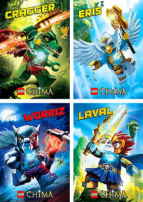 Lego Legends Of Chima Characters Poster Set Of 4 A4 A3 A2 Sizes Ebay