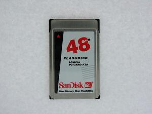 Sandisk-32mb-Or-48mb-Pcmcia-PC-Karte-Sdp3b-32-584-Sdp3b-48-584-Getestet