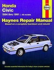 1991 Honda Civic CRX Si Shop Service Repair Manual Book Engine Electrical OEM