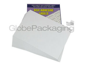 100 SHEETS - 4 PER SHEET - QUALITY A4 EASY PEEL PRINTER ADDRESS LABELS *OFFER* 5055502336046
