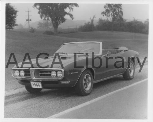 Factory Photo Ref. #69441 Picture 1968 Pontiac Firebird Convertible Coupe