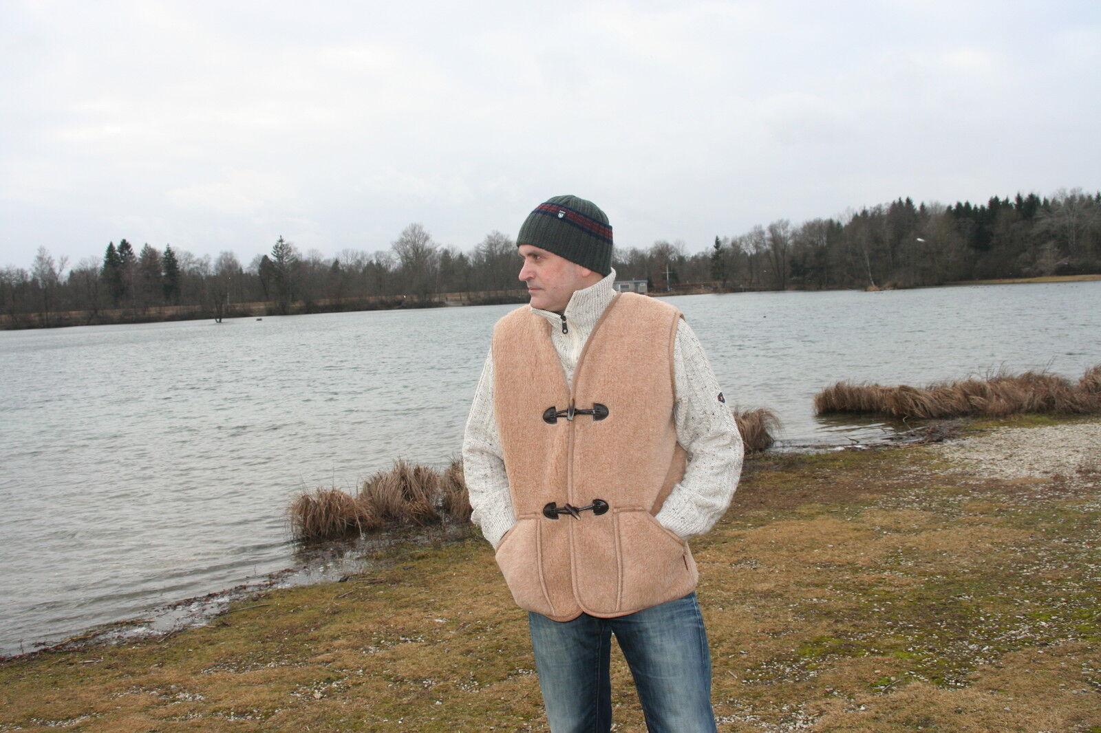 Weste  Fürst  Wollweste Fellweste brown 100% 100% 100% Wolle Made in Germany c80930