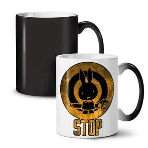 Bunny Stop Worker Funny NEW Colour Changing Tea Coffee Mug 11 oz   Wellcoda