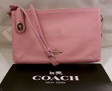 NWT COACH CROSBY Double Zip Crossbody MARSHMALLOW PINK Leather Bag 36552