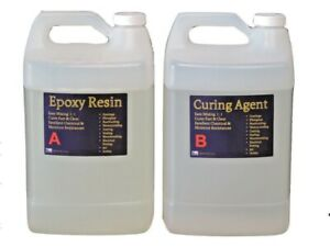 Crystal-Clear-Epoxy-Resin-General-Purpose-Bar-Table-Top-Coating-2-Gallon-Kit