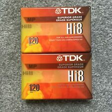 12 Tapes TDK Premium Performance Hi8 Camcorder Videotape