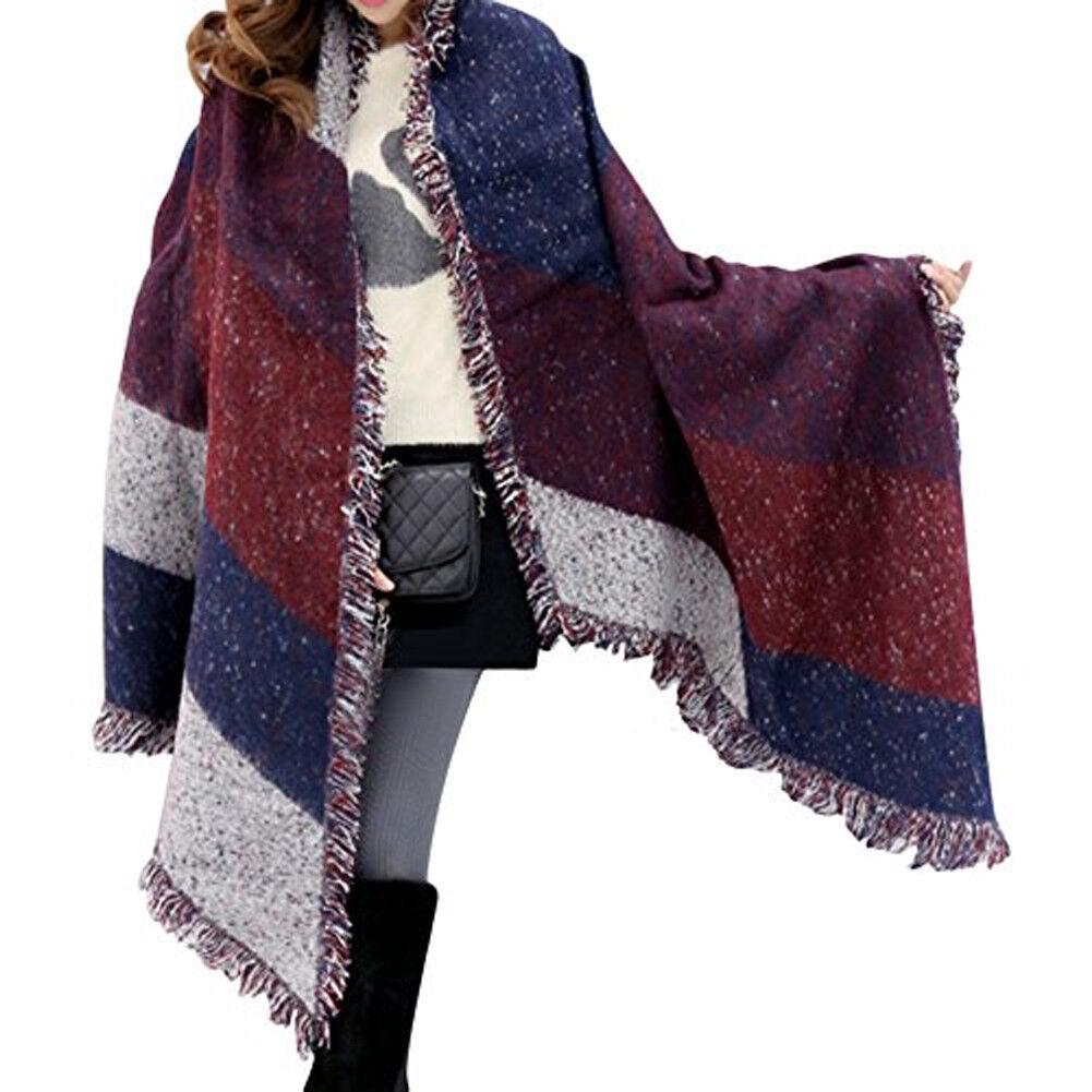 98a2d3bb92da Grande Cape Style foulard foulards épais Tartan Wrap Poncho laine Pashmina  Châle UK. Cliquez sur les vignettes ci-dessus pour l agrandir