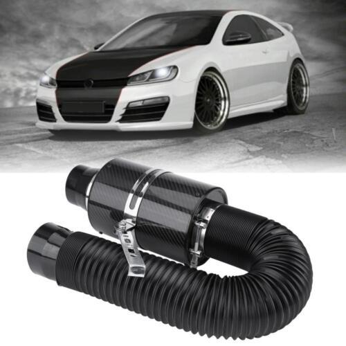 Unicersale 3/'/' Fibra Di Carbonio Filtro Aria Aspirazione Diretta Tubo Per Auto