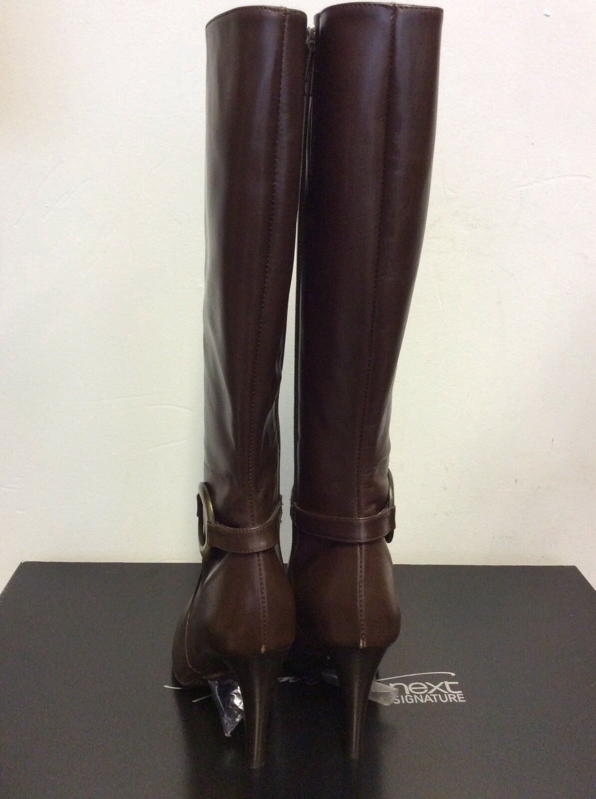 BRAND NEW  NEXT SIGNATURE Stiefel BROWN LEATHER KNEE LENGTH Stiefel SIGNATURE SIZE 5/38 COST c35952