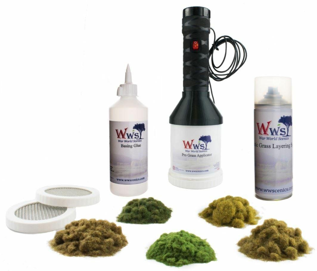 WWS Pro Grass Static Grand Applicator & Scenery Kit - Model Railway Wargame