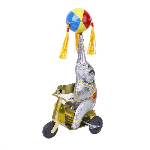Wind up Elefant spilen mit Ball On Tricycle Kinder Blechspielzeug