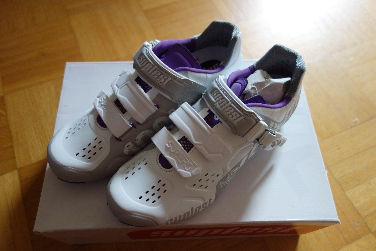 Suplest  Streetracing shoes Bici Strada Fibbia, Bianco-purple, size  37 O  large discount