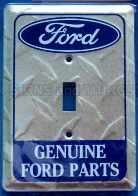 Licensed Ford diamond metal single light switch plate cover genuine Ford Parts