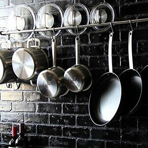 Image Is Loading 47 034 Stainless Steel Wall Mount Pot Hanger