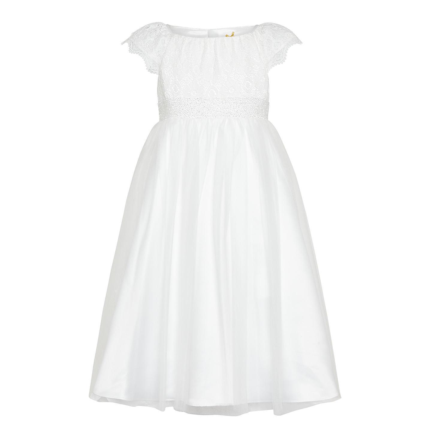 John Lewis Lace Mesh Bridesmaid Dress Ivory Age 3 Years rrp DH081 TT 04