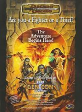 Dungeons And Dragons Gen Con Game Fair 2001 Magazine Advert #7060
