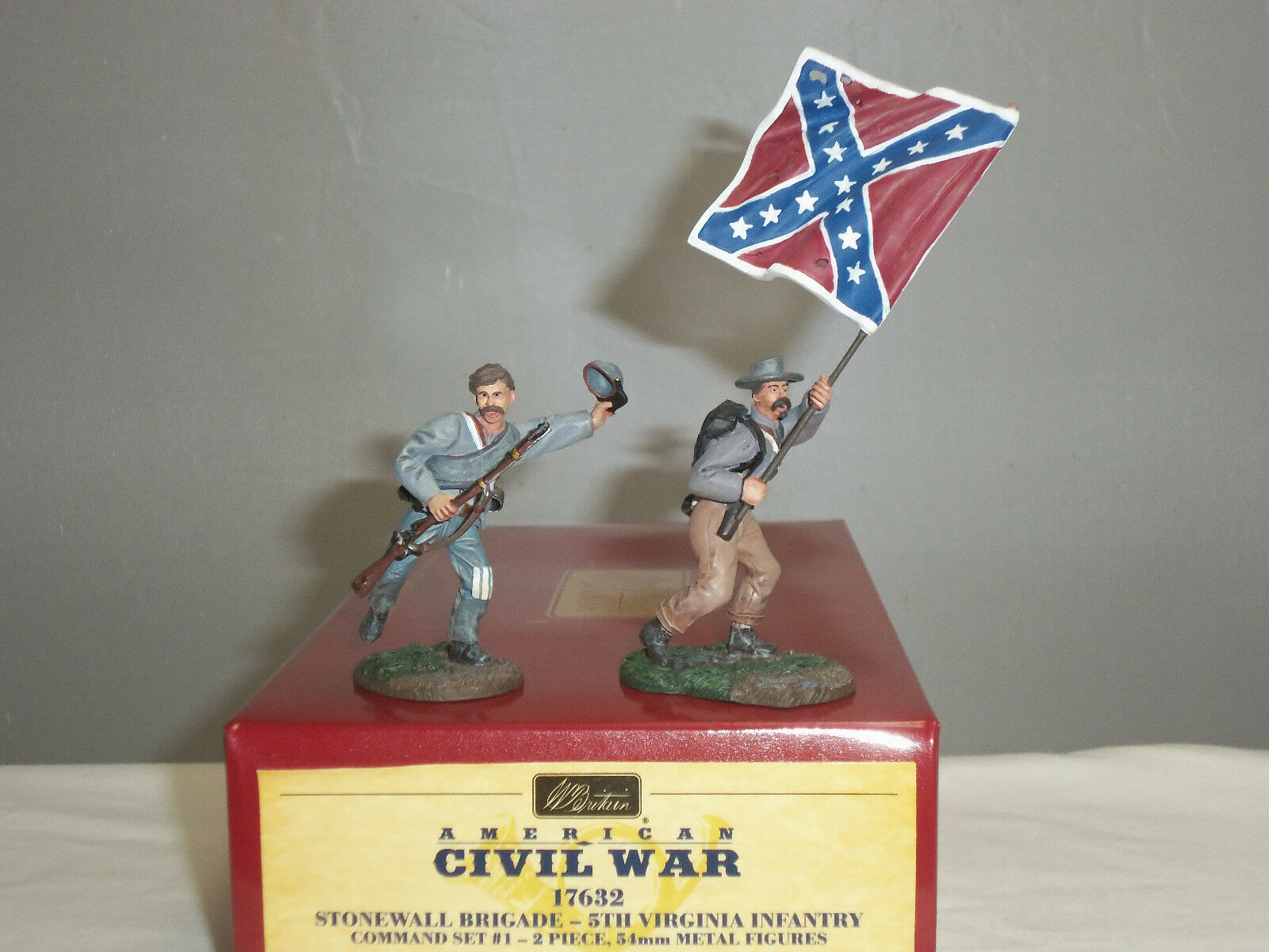 BRITAINS 17632 STONEWALL BRIGADE 5TH VIRGINIA INFANTRY TOY SOLDIER COMMAND SET