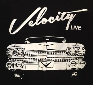 Velocity Live Cars Hotrods Tv 59 Cadillac Logo T Shirt Black Xl