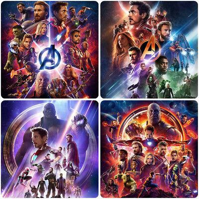 4pc Avengers 3 Infinity War Movie 2018 Coaster Cup Pad Mug Pad mat Matt Square b