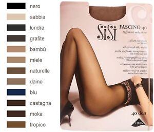 SISI-FASCINO-40-Collant-voile-sans-demarcation-Taille-5-XL-Coloris-Noir