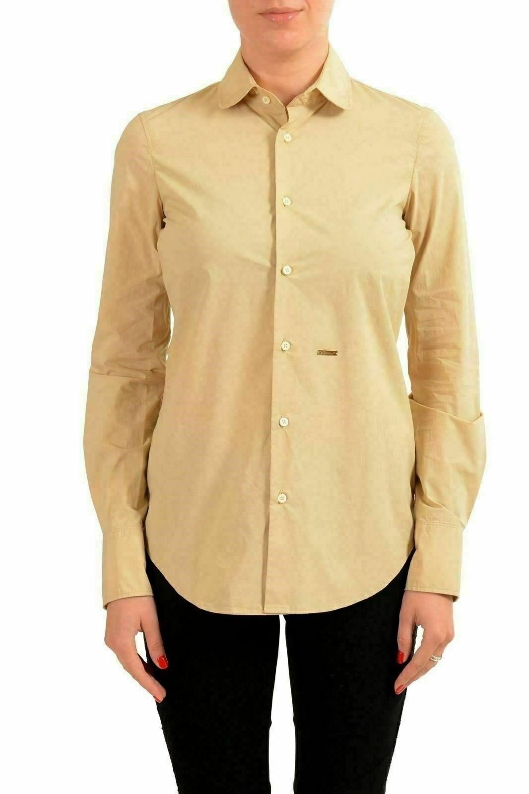 Dsquared2 Brown Long Sleeve Women'S Button Down Shirt US S IT 40