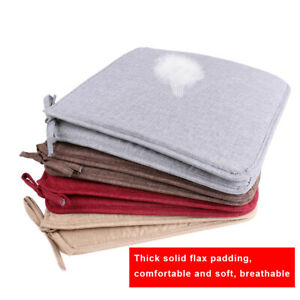 USA-Removable-Chair-Cushion-Seat-Pads-Patio-Linen-Tie-On-Dining-Room-Home-Decor