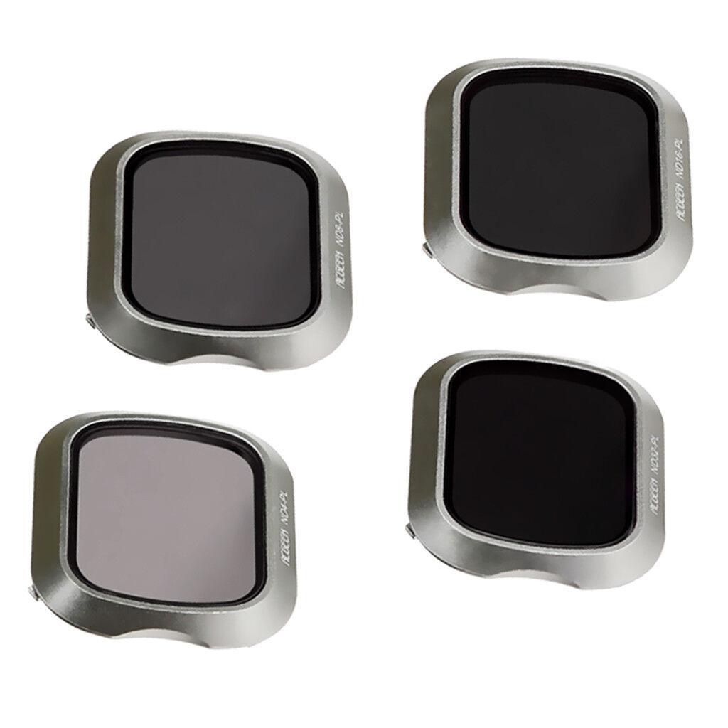 4pcs Kit de Filtre Polarisant de Lentille pour DJI Mavic 2 Pro Inclut: