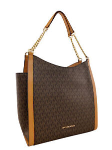 3e61b364d08d Image is loading Michael-Kors-Newbury-Studded-Medium-Chain-Shoulder-Tote-