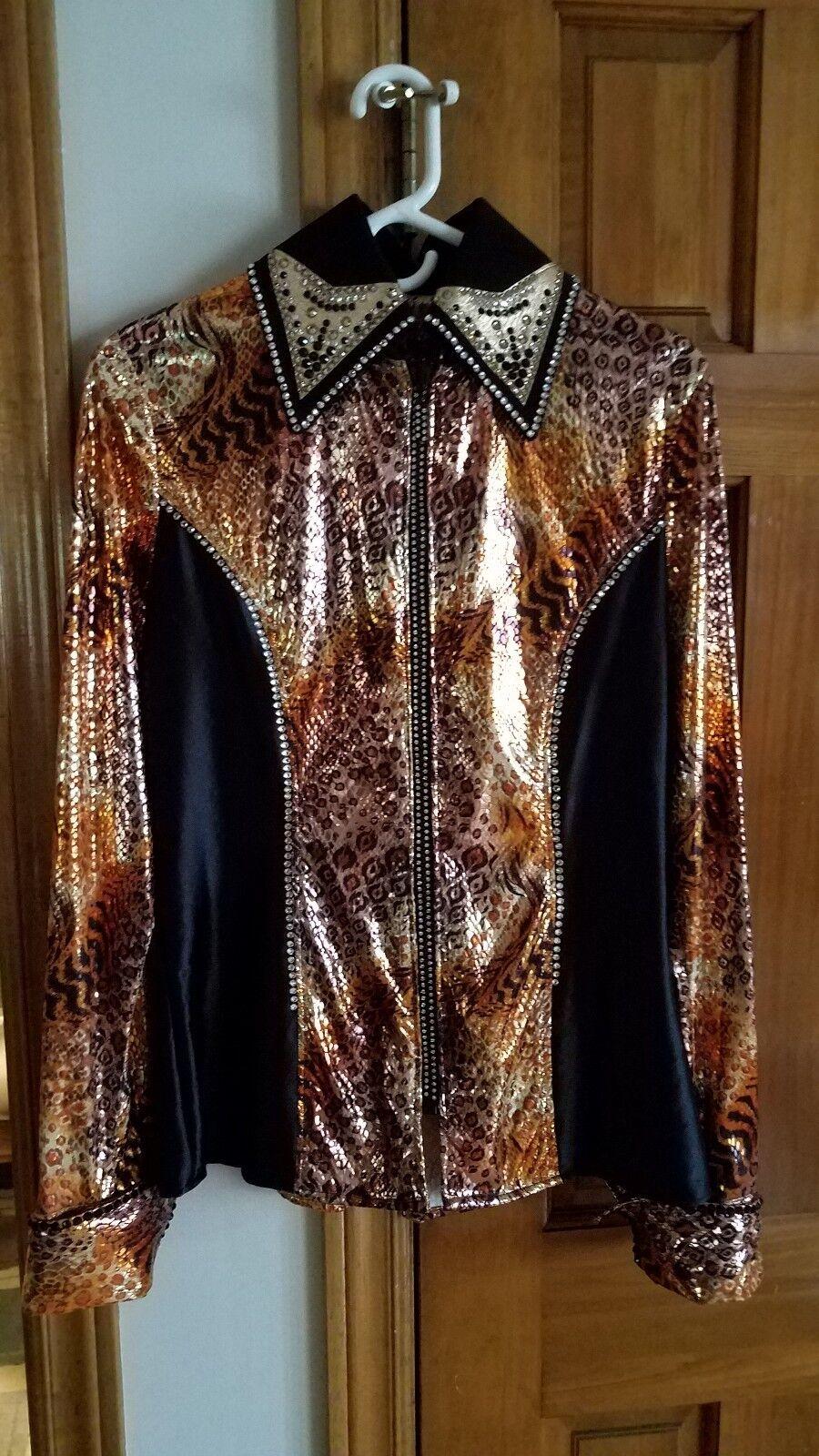 Western show, pleasure, rail, showmanship shirt - Women's Large   125  cheap and fashion