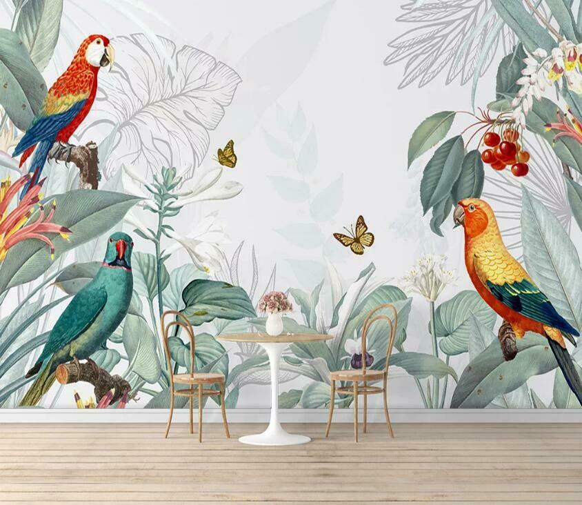 3D Farbeful Parrot N790 Wallpaper Wall Mural Removable Self-adhesive Sticker Amy