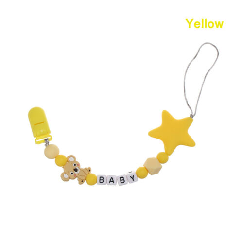 Feeding Five Star Baby Teething Pacifier Clip Soother Beaded Pacifiers Chain