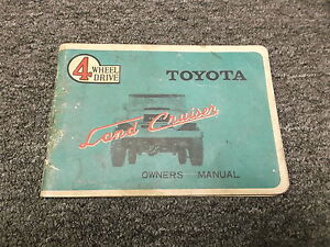 1965 1966 toyota land cruiser original owners owner s manual fj40 rh ebay com 2018 land cruiser owners manual 2018 land cruiser owners manual