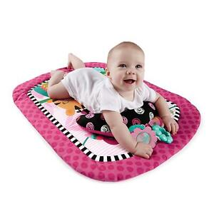 Bright Starts Tummy Time Mat Refresh Rattles Playmat Prop Pillow Toy Set Pink