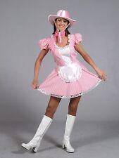ROSA Sexy Cowgirl Western Costume EX NOLEGGIO Qualità Taglia 8 - 10 p8952