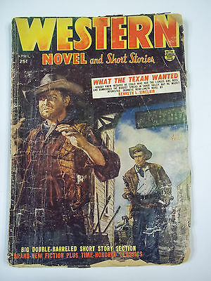 Western Novel and Short Stories April 1955 F-G Pulp Western Magazine