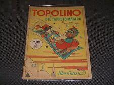 """ALBO D'ORO N.25 I° EDIZIONE 1946 TOPOLINO E IL TAPPETO MAGICO - BUONO """"U"""""""