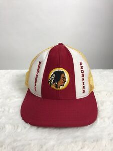 Washington Redskins Hat Vintage Snapback Cap Mesh 80s Lucky Stripes ... f5ec270d3