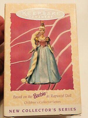 vintage hallmark keepsake barbie doll ornament rapunzel childrens series 1995 mint in box